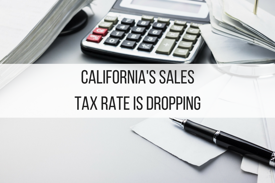 California's Sales Tax Rate is Dropping