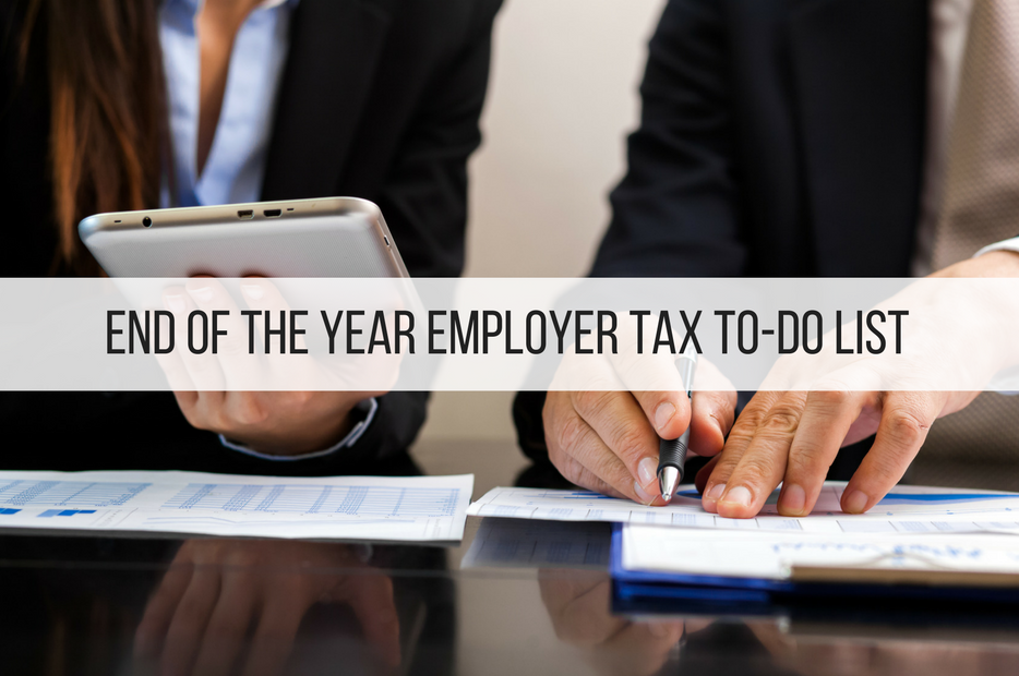 End of the Year Employer Tax To-Do List